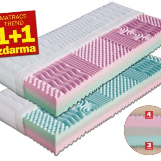 Matrace Leona 1+1 zdarma + 2 x polštář Lukáš zdarma Dřevočal 90 x 200 cm Lyocell