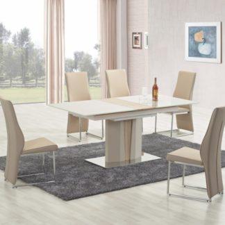 Jídelní stůl rozkládací CAMERON champagne / dub sonoma Halmar