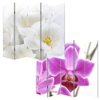 Designový paravan WH orchidei 200x180 cm (5-dílný)