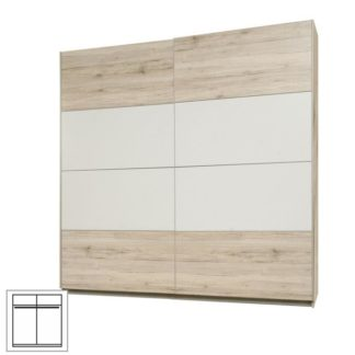 Šatní skříň s posuvnými dveřmi VALERIA dub pískový / bílá Tempo Kondela