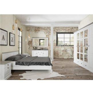 Manželská postel LIONA bílá Tempo Kondela 160 x 200 cm