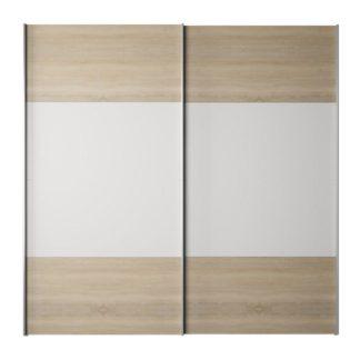 Šatní skříň s posuvnými dveřmi GABRIELA dub sonoma / bílá Tempo Kondela