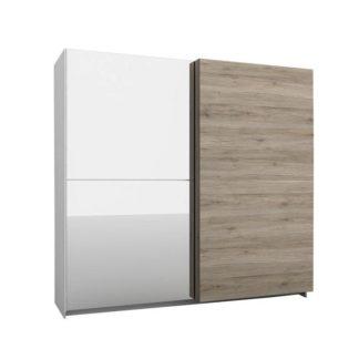 Šatní skříň se zrcadlem BETINO BX-72 dub sonoma tmavý Tempo Kondela