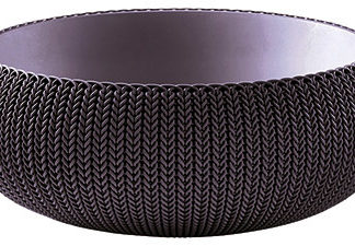 COZIES KNIT - L - květináč - tmavě fialová Keter