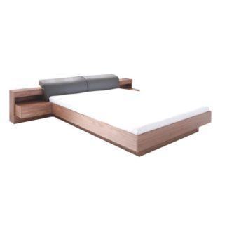Manželská postel REKATO 160x200 cm ořech / grafit Tempo Kondela