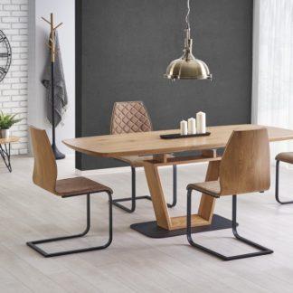 Jídelní stůl rozkládací BLACKY zlatý dub Halmar