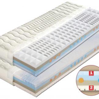 Pěnová matrace Laura dvojí tvrdost + 1x polštář Lukáš ZDARMA 180 x 200 cm Lyocell