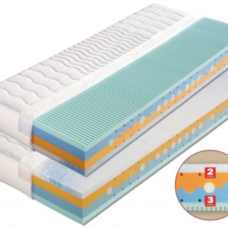 Pěnová matrace Beáta dvojí tvrdost + 1x polštář Lukáš ZDARMA 180 x 200 cm Lyocell