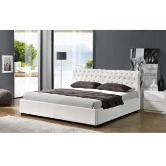 Manželská postel s úložným prostorem DORLEN NEW bílá Tempo Kondela 183 x 200 cm