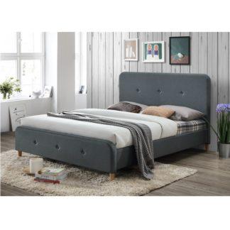 Manželská postel COLON NEW 160x200 tmavě šedá Tempo Kondela