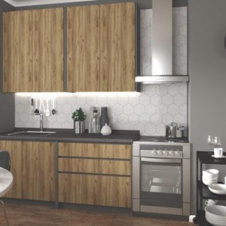 Kuchyňská linka IDEA 180 antracit / dub wotan