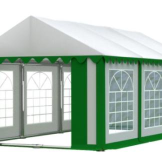 Zahradní párty stan 4x6m PREMIUM Bílá / zelená