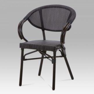Zahradní židle AZC-110 BK hnědá / černá Autronic