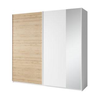 Šatní skříň 2-dveřová SIMPLA bílá / dub divoký Tempo Kondela