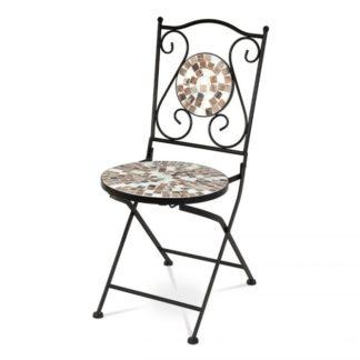 Židle kovová s mozaikou JF2207 Autronic