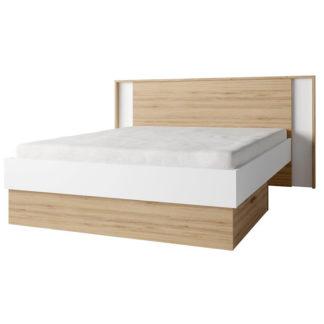 Manželská postel SIMPLA 160x200 bílá / dub divoký Tempo Kondela
