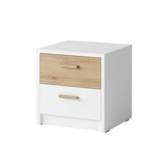 Noční stolek SIMPLA (2 ks) bílá / dub divoký Tempo Kondela