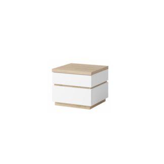 Noční stolek 2 ks PIETRO bílá / dub divoký Tempo Kondela