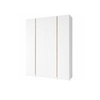 Šatní 4-dveřová skříň PIETRO bílá / dub divoký Tempo Kondela