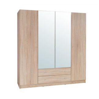 Šatní skříň 4-dveřová MEXIM dub sonoma Tempo Kondela