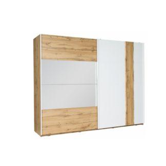 Šatní skříň VODENA 250 dub wotan / bílá Tempo Kondela