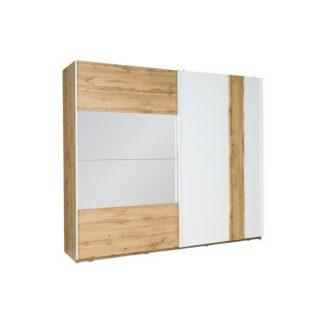 Šatní skříň VODENA 200 dub wotan / bílá Tempo Kondela