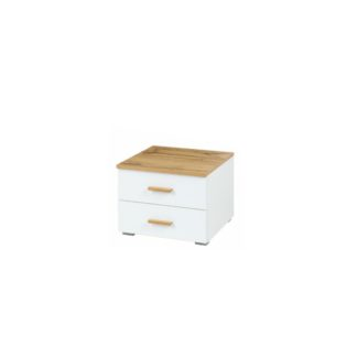 Noční stolek sada 2 ks VODENA dub wotan / bílá Tempo Kondela