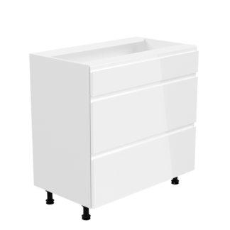 Spodní skříňka AURORA D80S3 Tempo Kondela Bílá