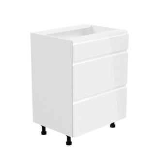 Spodní skříňka AURORA D60S3 Tempo Kondela Bílá