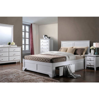 Manželská postel MACRO bílá Tempo Kondela 180 x 200 cm
