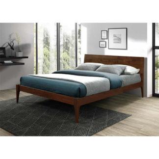 Manželská postel BEROTO ořech Tempo Kondela 160 x 200 cm