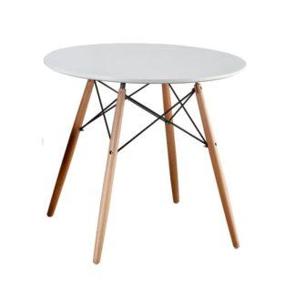 Jídelní stůl GAMIN NEW bílá / buk Tempo Kondela 90 cm