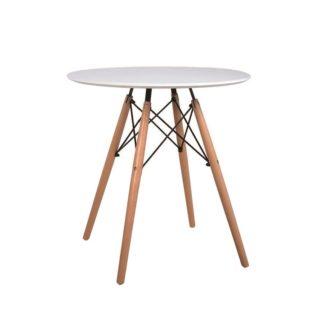Jídelní stůl GAMIN NEW bílá / buk Tempo Kondela 60 cm