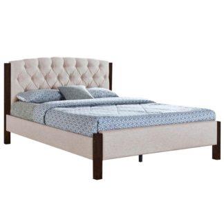Manželská postel ELENA písková / tmavý ořech Tempo Kondela 180 x 200 cm