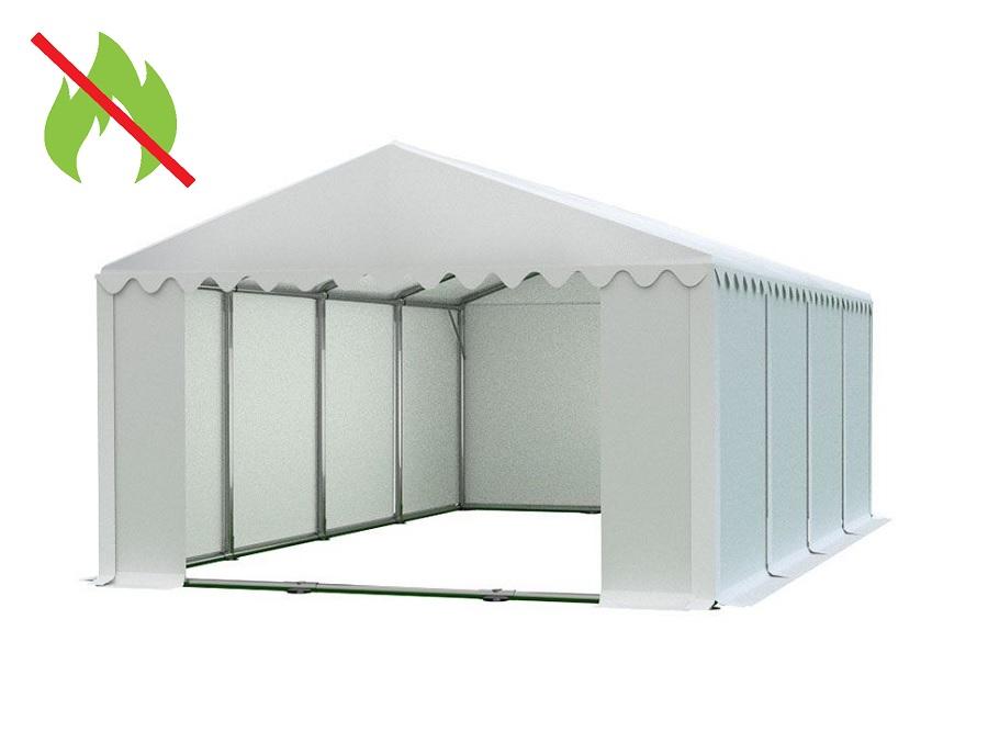 Skladový stan 6x8m PROFI - nehořlavý Bílá