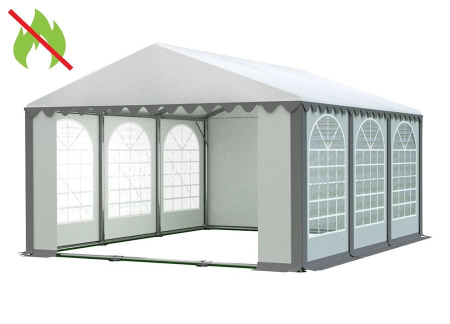 Zahradní párty stan 5x6 PROFI - nehořlavý Bílá / šedá
