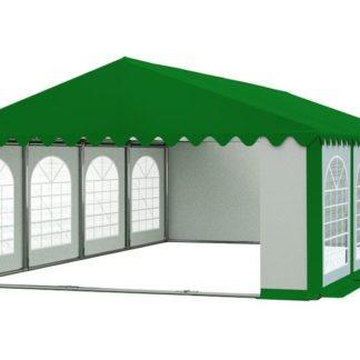 Zahradní párty stan 5x8m PREMIUM Bílá / zelená (střecha zelená)