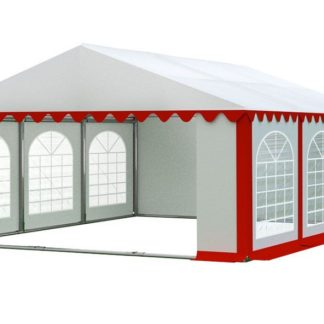 Zahradní párty stan 5x6m PREMIUM Bílá / červená