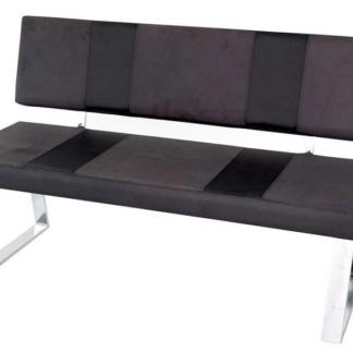 Jídelní lavice Santa Bari, šedá látka/černá ekokůže