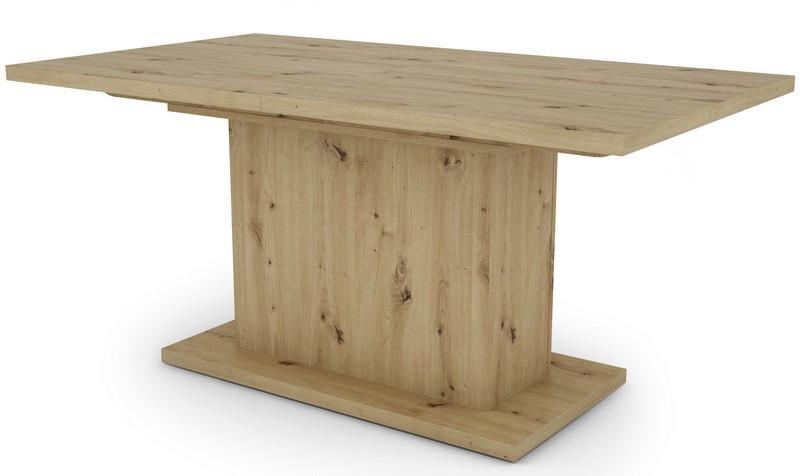 Jídelní stůl Paulo 160x90 cm, dub artisan, rozkládací