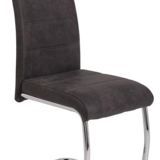 Jídelní židle Flora 2, antracitová vintage látka