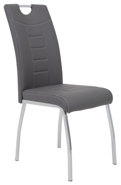 Jídelní židle Andrea, šedá ekokůže