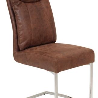 Jídelní židle Brenda, hnědá vintage optika kůže