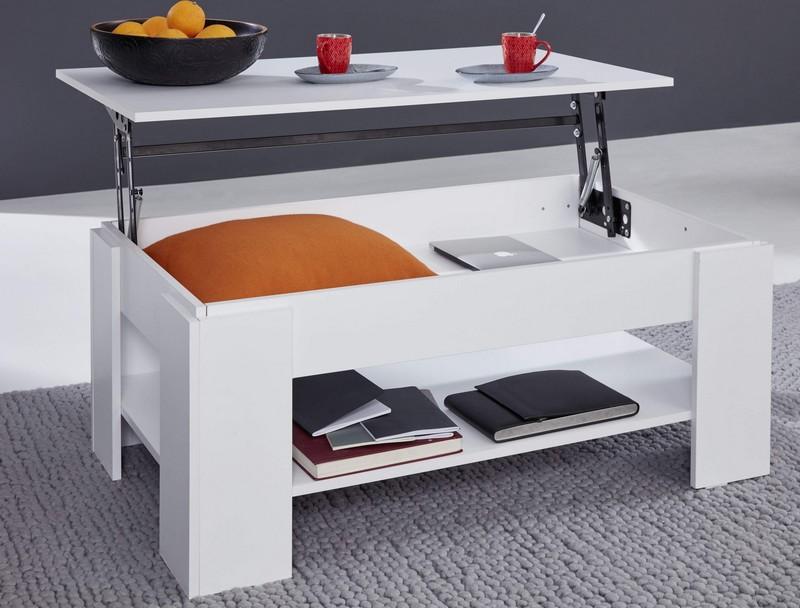 Výklopný konferenční stolek Universal 139, bílý