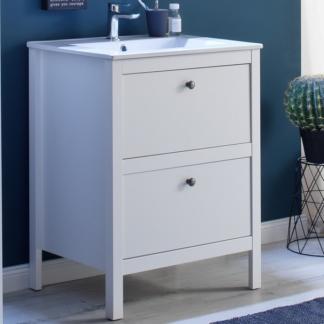 Koupelnová skříňka s umyvadlem Ole, bílá, šířka 61 cm