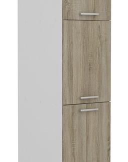 Vysoká kuchyňská skříň Irma S40.193, bílá/dub sonoma