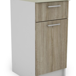 Dolní kuchyňská skříňka Irma SSD40.82, bílá/dub sonoma