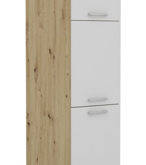 Vysoká kuchyňská skříň Irma S40.193, dub artisan/bílá