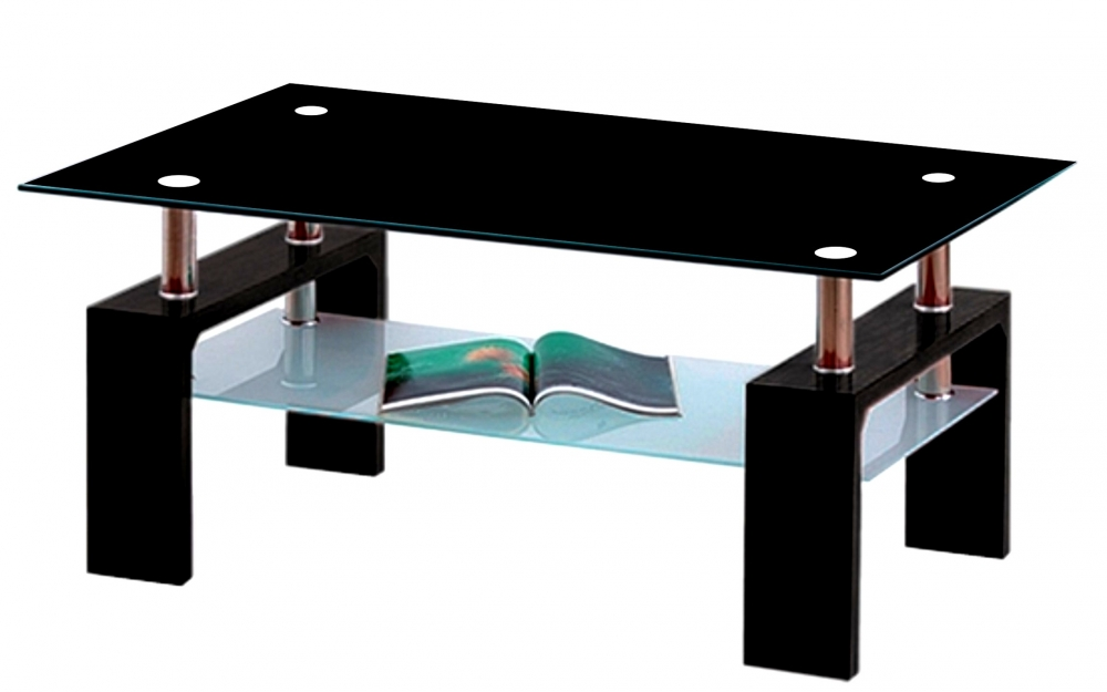 Konferenční stolek Diana Lisa černý/černé sklo - FALCO
