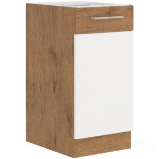 Kuchyňská dolní skříňka Vigo 40D1F dub lancelot/bílý lesk - FALCO